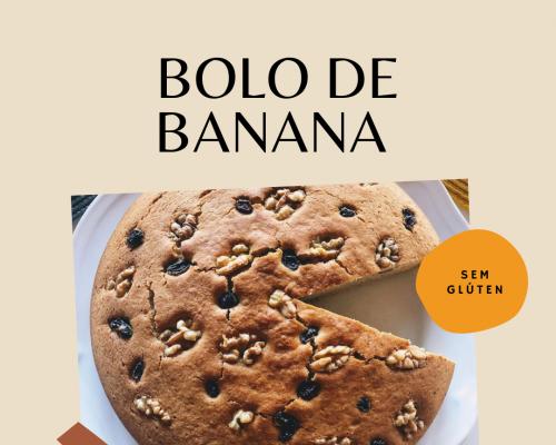 BOLO DE BANANA (SEM GLÚTEN)!